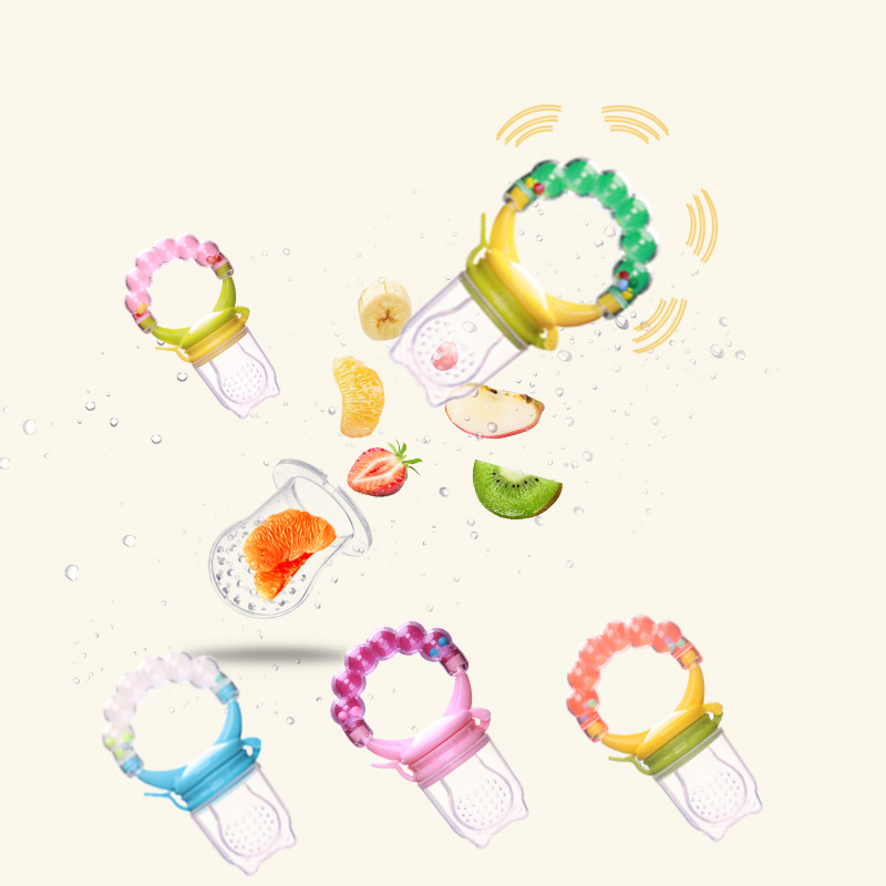 1Pcs Fresh Food Nibbler Baby Pacifiers Feeder Kids Fruits Drink Vegetables Nipples Feeding Safe Baby Nipple Pacifier For 3-12M
