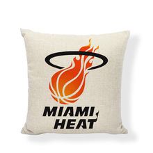 Basketball Team Cushion Cover Lakers Chicago Bulls San Antonio Spurs Printed Home Home Decor Best Gift For Fans Throw Pillowcase