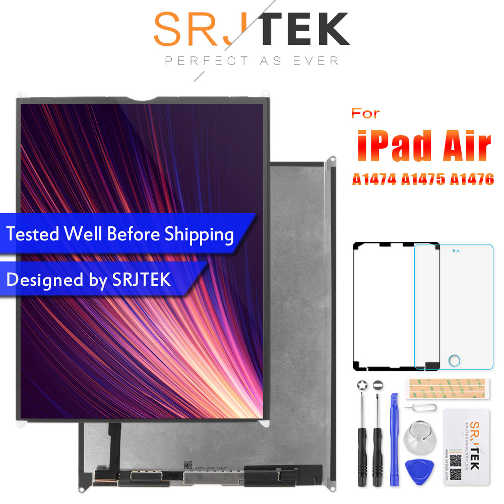 SRJTEK 9 7 LCD For iPad Air 1 Air1 iPad5 5 A1474 A1475 A1476 LCD Display