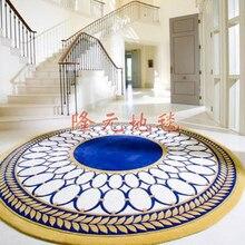 250*250 см Последний европейский модный ковер, круглый ковер для гостиной спальни, акриловые ковры с абстрактными листьями