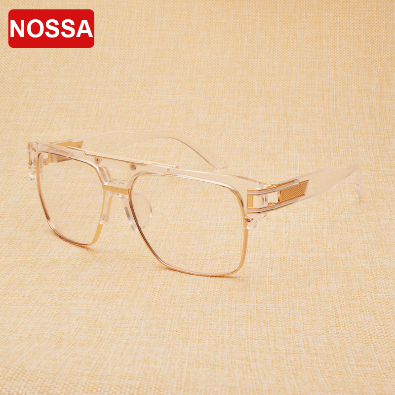 NOSSA Mode Personlighet Glasögon Ramar Unisex Cool Optical Frame Kvinnor och Män Spectacles Original Glasögon Frame Goggle