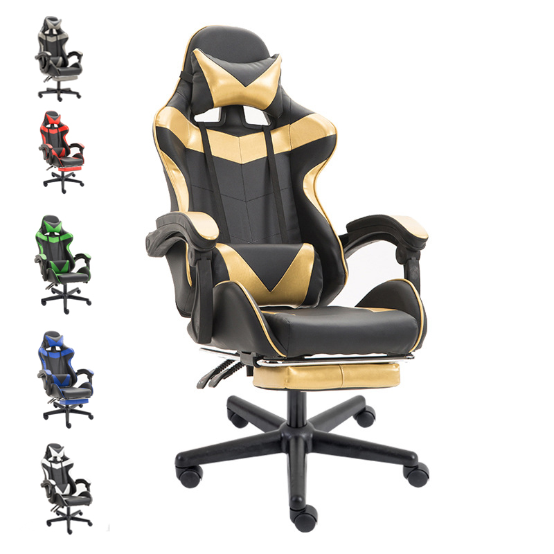 E-sports leather game seat Internet bar sports LOL racing chair Comfortable Youtuber computer chair