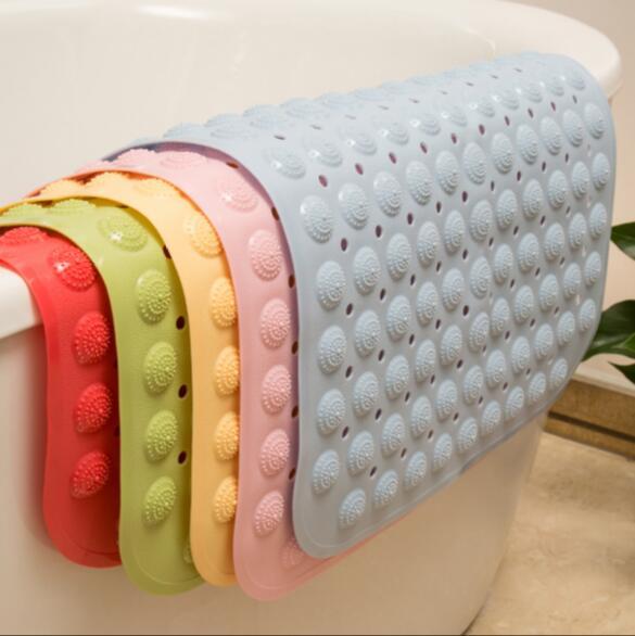 New Non Slip Bathroom Mat Maging Gel Circles Pvc Shower Mats Carpet Pad Anti