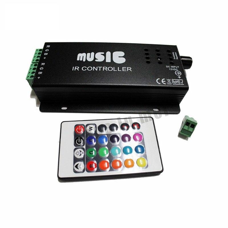 RGB Music IR Sound Sensitive Controller Remote for LED Strip Light 12V