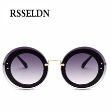 RSSELDN 2017 New Fashion Round Sunglasses Women Brand Design Translucent Sun glasses Women oculos de sol feminino  UV400