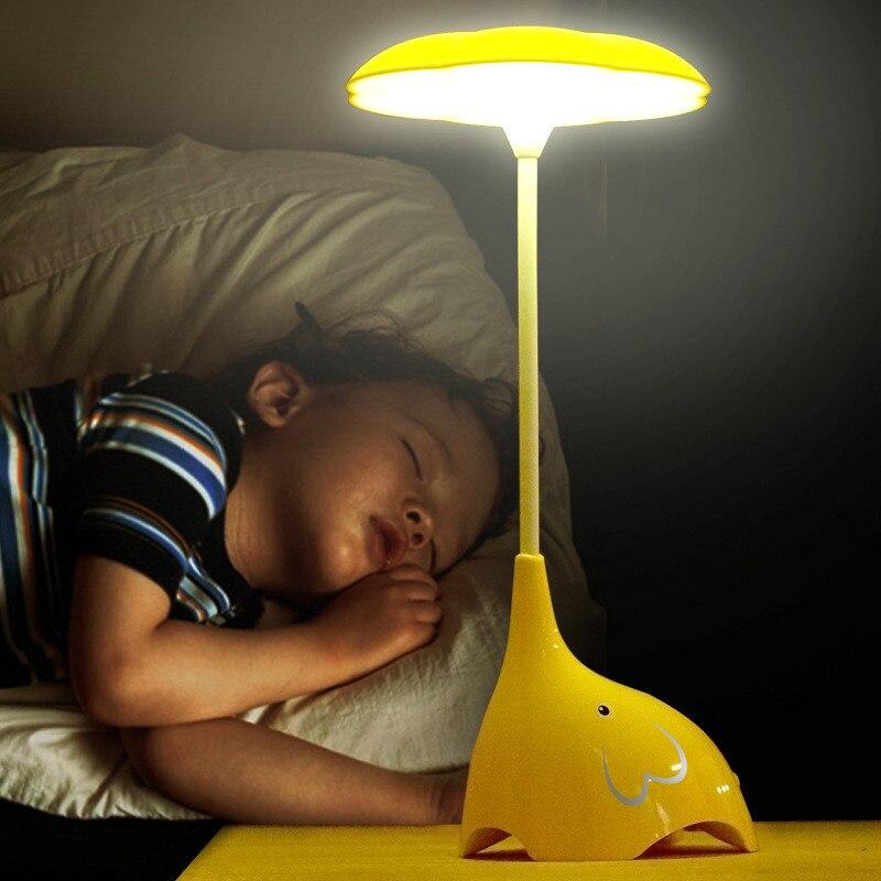 Прекрасный мультфильм слон настольная лампа <font><b>led</b></font> свет в ночь touch Сенсор usb настольная лампа с регулируемой яркостью защитить зрение в двери ла&#8230;