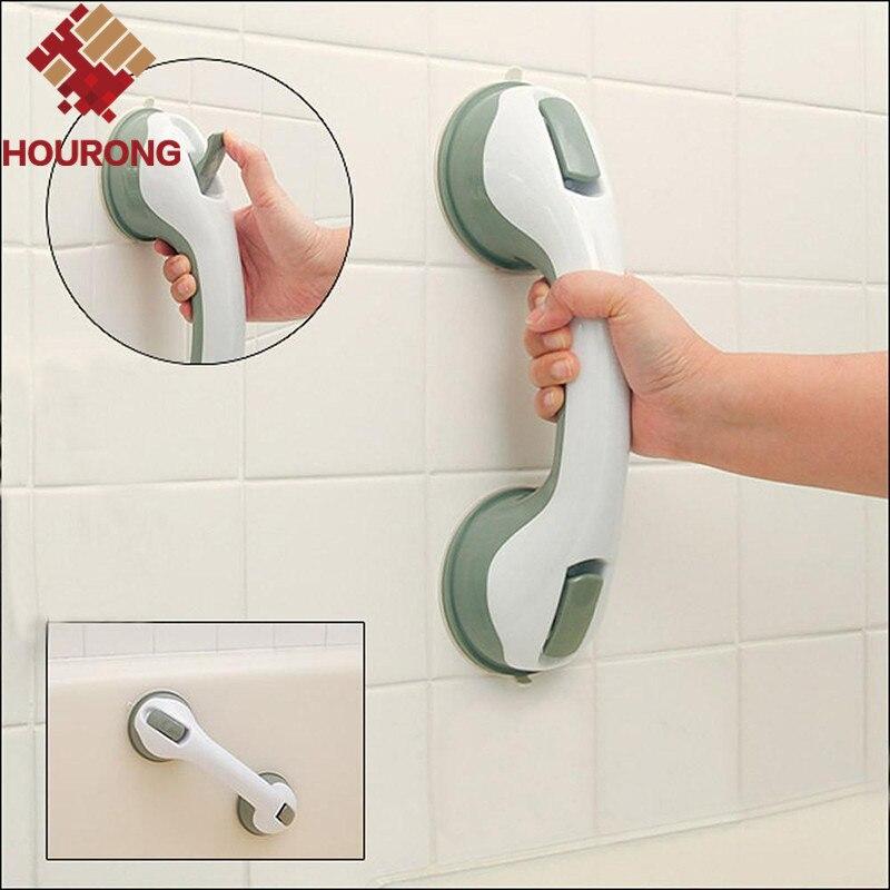 Hourong 1 Pc Practical Bath Safety Bathroom Grab Handle Bar Handle Rail Strong Suckion Handle Keeping Balance Bathroom Accessory