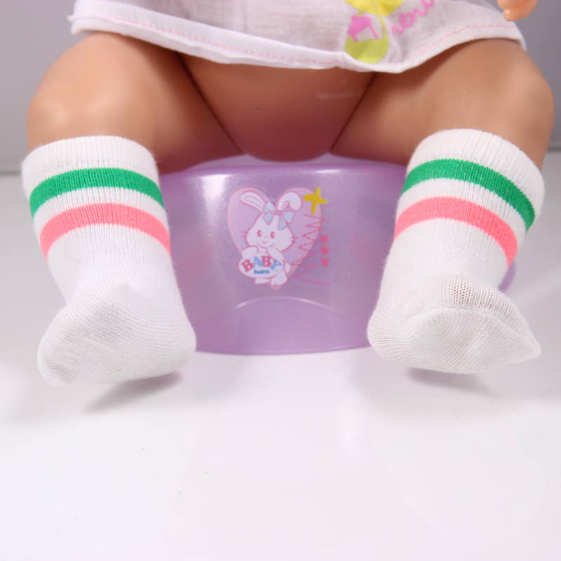 White socks include green and red strips Wear fit 43cm Baby Born zapf Children best Birthday