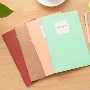 Colors B5 Cute Paper Notebook School Exercise Book Notepad wirh Line Korea Stationery Gift