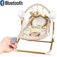 Muchuan электрические детские качели музыкальное кресло качалка Автоматическая Колыбель детская спальная корзина placarders шезлонг