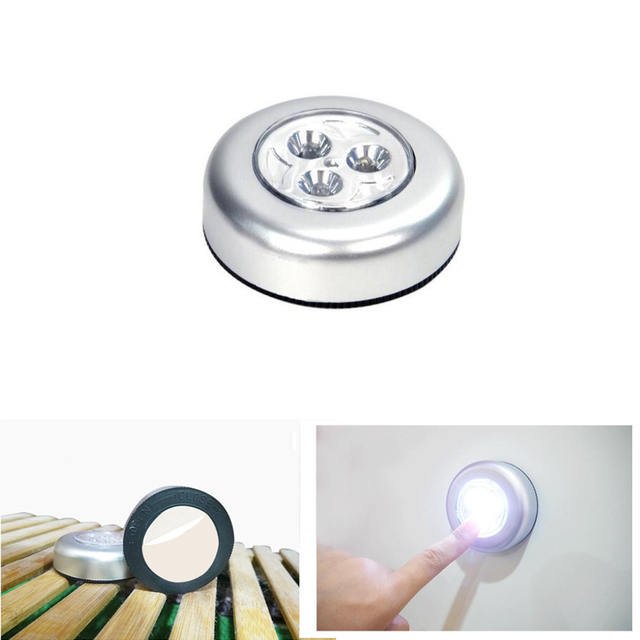 hoge kwaliteit led nachtlampje draadloze 3 led wandlamp keukenkast closet cordless verlichting sticker tap touch lamp