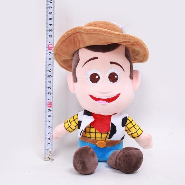 Hot Toy Story 4 Sherif Woody Buzz Lightyear Dolls Plush Toys Stuffed Cute Auto Accessories Car Decoration 25cm