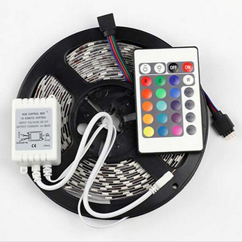 5M RGB LED Strip 5050 300LEDs SMD + 24Key IR Remote Controller Not Waterproof Flexible Led Strip Light Lamp Free Shipping