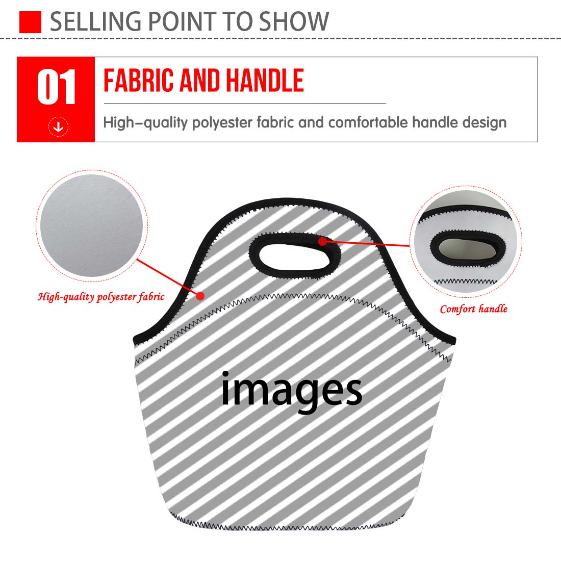 FORUDESIGNS Thermal Insulated Lunch Box Dinner Cooler Bag Women Girls for Work/Picnic Bags Storage Pouch Tote Bento Sac Neoprene