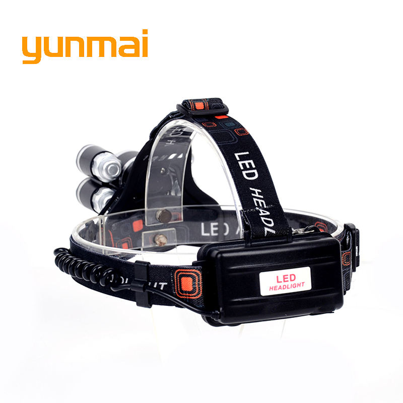 USB 12000 Lumen 5 Led Headlamp XML T6+4Q5 Head Lamp Powerful Led Headlight Head Torch 18650 Rechargeable Fishing Hunting Light