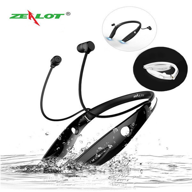 100% H1 Bluetooth Earphone Sport Waterproof Wireless Headset Stereo Headphones With Microphone Luminous Earphone For Mobile original xiaomi sport bluetooth earphone wireless sport stereo headphones with microphone ip6 waterproof bluetooth 4 1 headset
