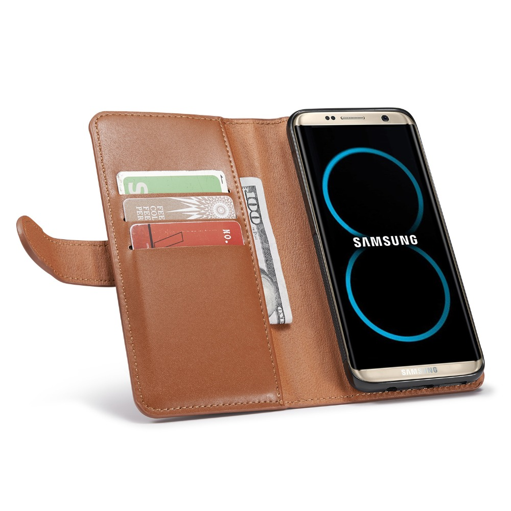 Новый 2 в 1 кошелек, чехол для телефона для Samsung Galaxy S8 megnetic съемный кошелек откидная крышка кожаный чехол для Samsung galaxy S8 плюс
