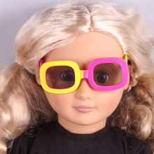 Yellow And Pink Color Doll Sunglass Fits 18 American Girl Doll Clothes And Acessories 11 Colors