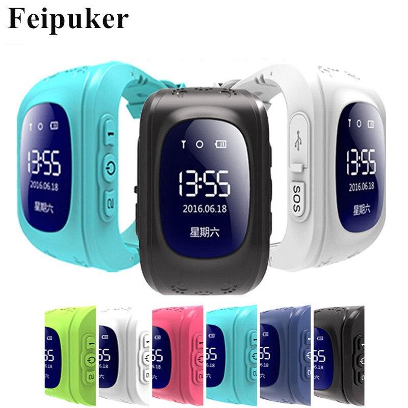 Caliente reloj inteligente niños reloj de pulsera Q50 GSM GPRS GPS perseguidor Anti-perdido Smartwatch Niño para iOS Android