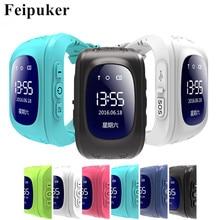HOT Smart watch Children Kid Wristwatch Q50 GSM GPRS GPS Locator Tracker Anti Lost Smartwatch Child