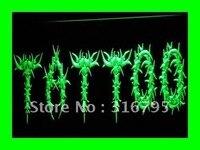 I294 ABERTO Tattoo Body Art Logo Loja LED Sign Neon Light On/Off Switch 20 + Cores 5 Tamanhos