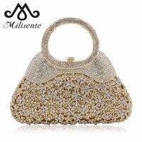 2016 Luxury Flower Crystal Evening Bags Special Design Handbag Shape Girl S Party Purse Wedding Clutch