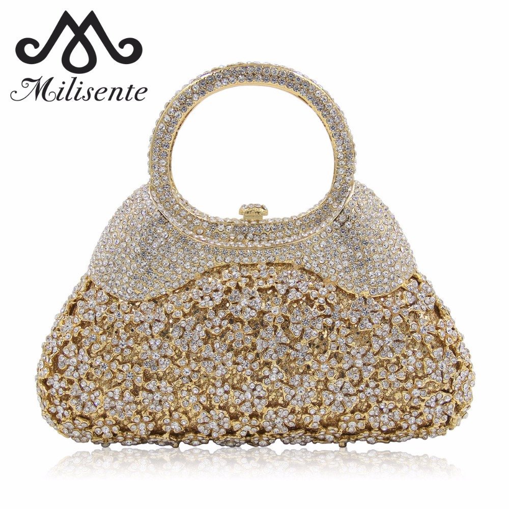milisente flower crystal evening bags women party purses special design clutch female luxury. Black Bedroom Furniture Sets. Home Design Ideas