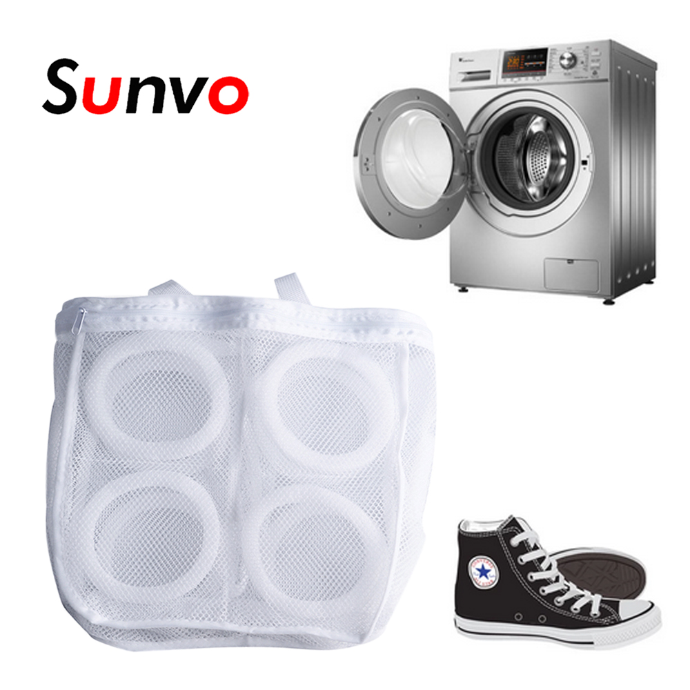Sunvo Laundry Shoes Bag For Boot Sneaker Hanging Dry Bags Mesh Washing Organizer Protect Shoe Cleaning Accessories Inserts