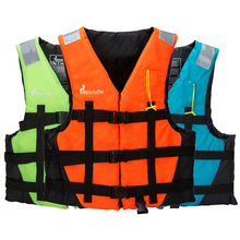 цена на Children life vest rescue jacket whistle swimming adult/kids life jacket drifting boating rescue fishing safety water sportswear