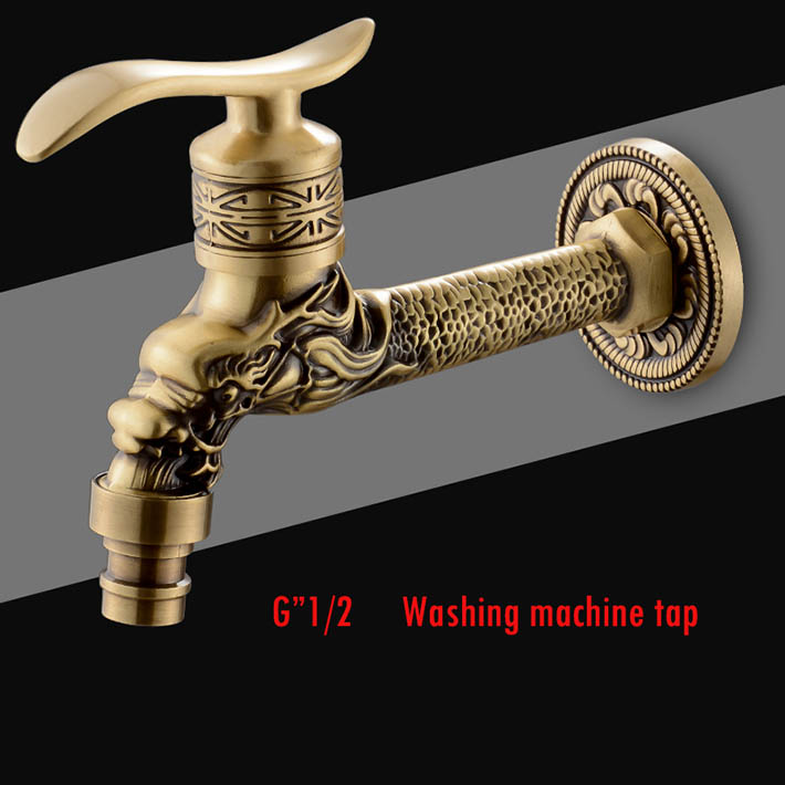 Bathroom Sinks,faucets & Accessories Dragon Animal Shape Garden Bibcock Rural Style Antique Bronze Dragon Tap With Decorative Outdoor Faucet For Garden
