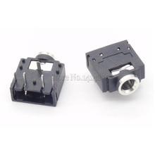 10Pcs 3.5mm Stereo Jack Socket Audio Jack Connector PCB 3F07 PJ-307(China (Mainland))