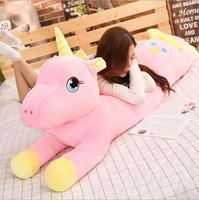 Big size unicorn plush Boyfriend sleeping pillow cute horse soft doll large stuffed animal soft toys gift for girlfriend
