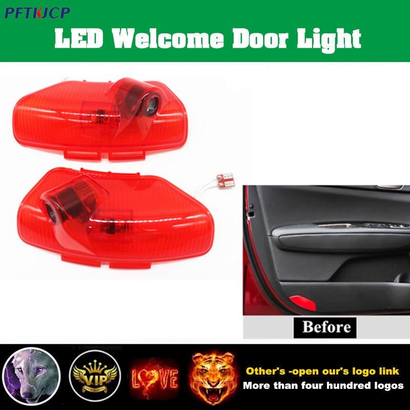 цена на 2x New Car-styling Led Car Logo Projector Light original installation for Kia K5 Optima 2011 2012 2013 2014 2015 welcome lamp