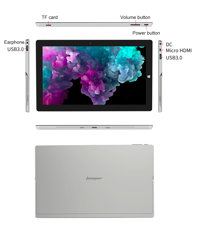 Jumper EZpad Go 2 in 1 Tablet PC 11.6 inch IPS Display windows tablet (15)