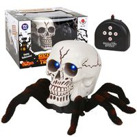 So Scary RC Skull Spider Remote Control Araneid Shine Eyes Funny Prank Kids Toy Gift Halloween
