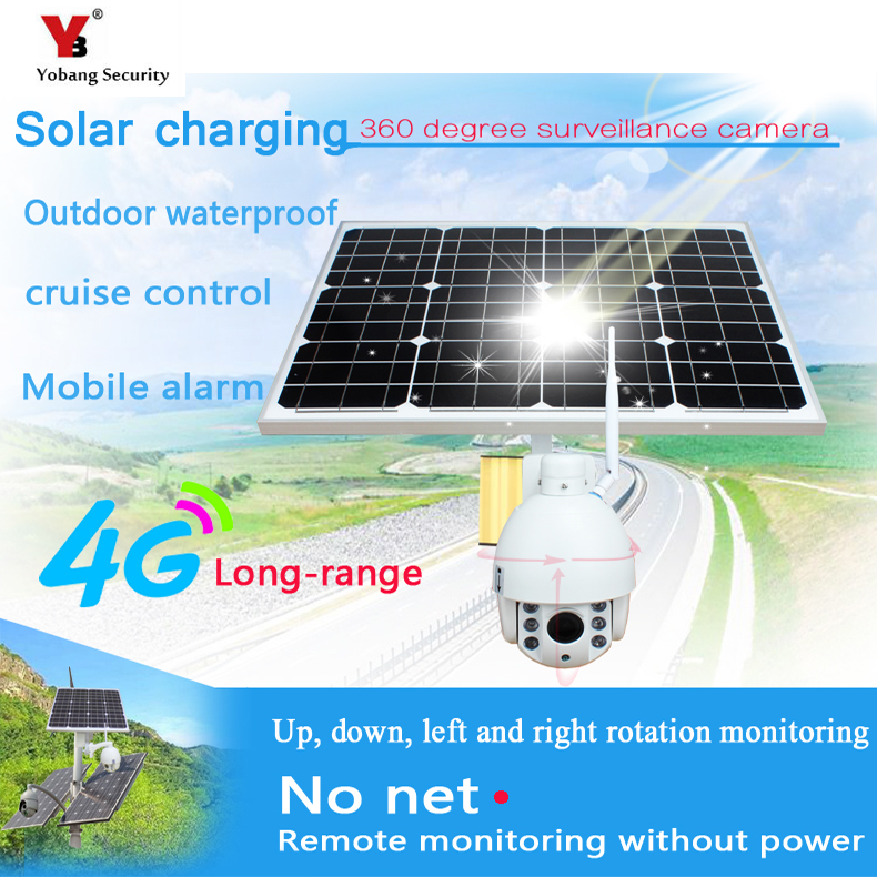 YobangSecurity 1080 P 2.0 M Zoom Ottico 5x Solar Power Battery Telecamera di Sorveglianza Wireless Outdoor IP Camera Impermeabile 4G SIM