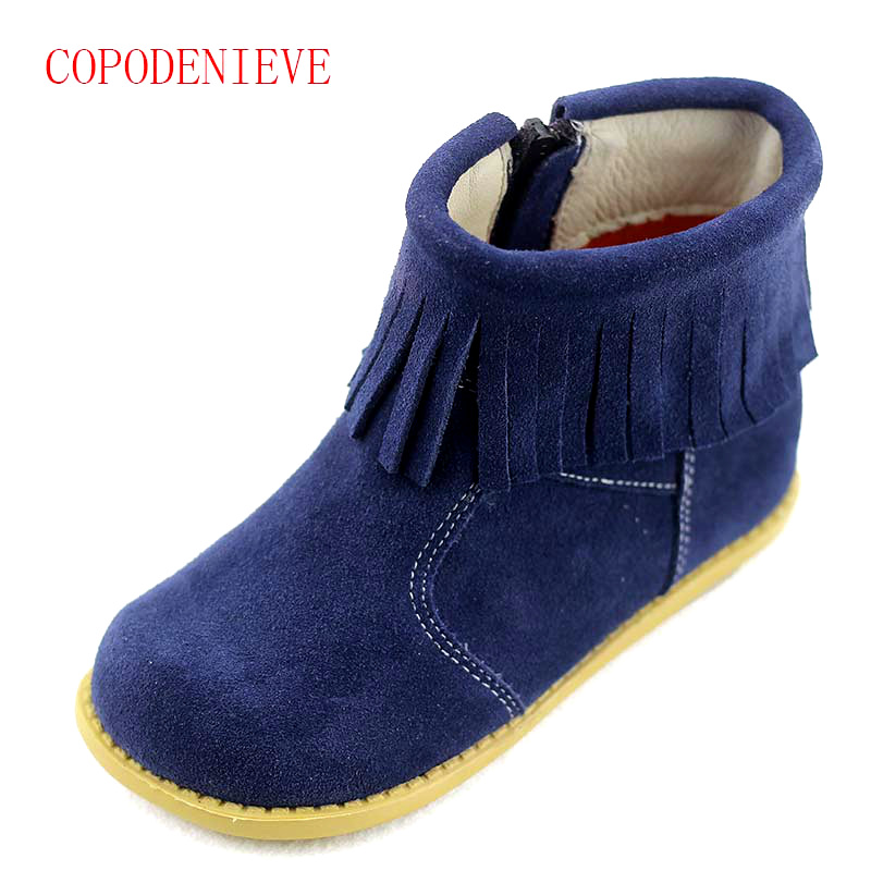 Image 2 - Winter warm boots for girls children's shoes girls snow boots girl baby fringe boots kids martin boots warm shoes-in Boots from Mother & Kids