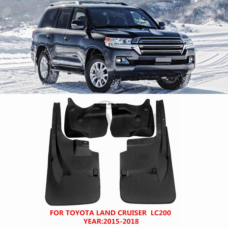Car Styling Mudguards Mud Flaps Splash Guards for toyota land cruiser lc200 Middle East version 2015
