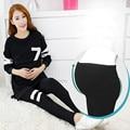 Mujeres clothing ropa de lactancia de enfermería de maternidad las mujeres embarazadas tops de manga larga + pantalones más el tamaño de maternidad pijamas set