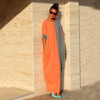 2019 yaz plaj gevşek büyük boy Kaftan ekleme elbise o-boyun kadın Longa Cangas Renda Pareo plaj Cover Up elbiseler