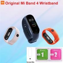 Oryginalny Mi Band 4 5 pasek kolorowe silikonowa bransoletka dla Mi Band 5 4 pasek na rękę dla Mi Band 4 NFC akcesoria zamienne