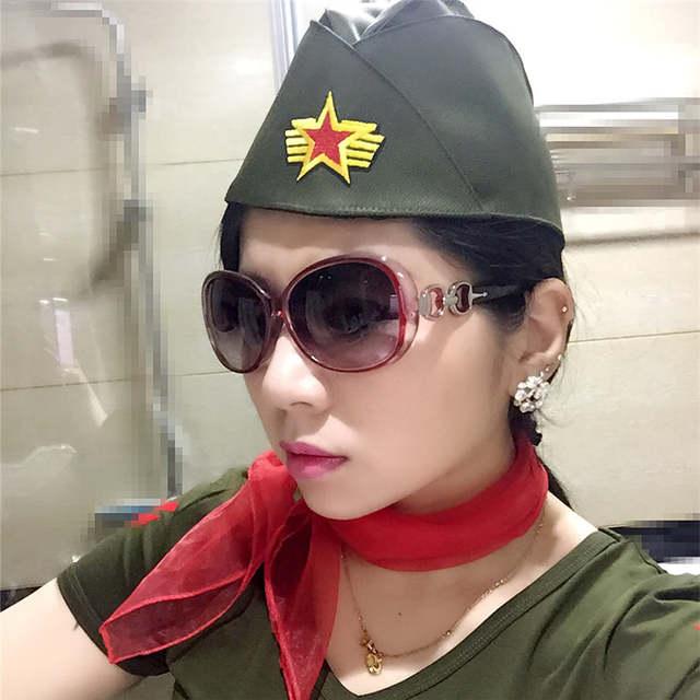 placeholder 2017 Nova Mulheres Logotipo Da Estrela Marinheiro Chapéu  Tricorne Bonnet Cap Camuflagem Do Exército Russo Militar 77e02613ae0