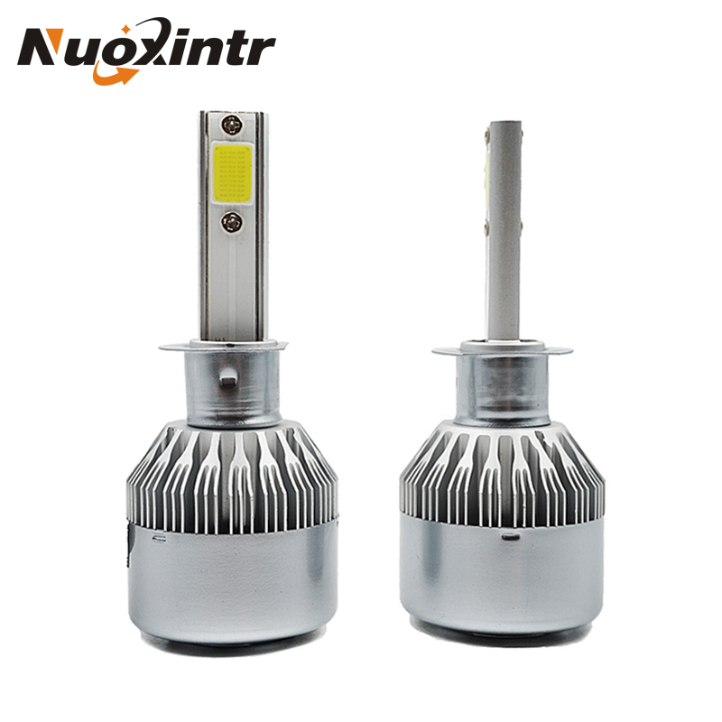 H7 H11 COB LED Car Headlight 72W 9600LM H1 H3 9005/9006 Auto Beam Bulb Kit Driving Lamp Car LED Headlights Bulb Pure White 6000K s2 h1 h3 h7 h11 9005 9006 cob led car headlight light replacement bulb canbus 6500k auto drl fog driving lamp 72w
