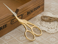 High Quality Golden Vintage Scissors Heron Shaped Utility Knife Scissors For DIY Home Office School Cutting
