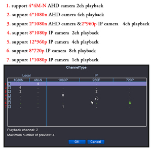 Image 4 - OUERTECH AHD CVI TVI IP CVBS 5 in1 4CH/8CH/16CH 4 Megapixels 4M N DVR 4CH RCA Audio IN Support 1 SATA HDD Surveillance CCTV DVR
