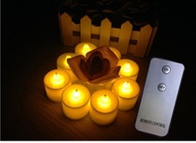 6PCS Remote Controlled Round Melted Edge Votive Flameless LED Candles