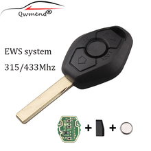 купить LARATH 2pcs/lot 3 Buttons 433Mhz Remote Key Fob Keyless For BMW E46 E38 3 5 7 Series EWS System Car Key HU92 Blade ID44chip онлайн