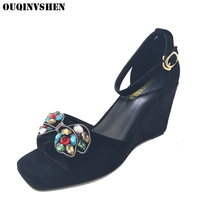 OUQINVSHEN Crystal Women Sandals Fashion High Heels Platform Casual Sandals Women Brand Shoes Butterfly Women Sandals