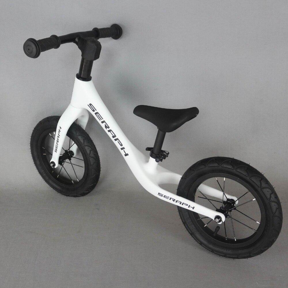Full Carbon Fiber Kids Bike Push Balance Bicycle 3K Children Balance Bikes OEM
