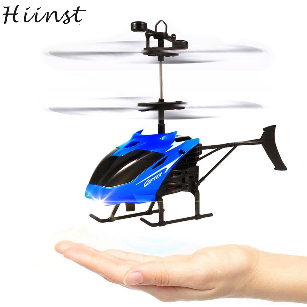 HIINST Funny Ages 8+Plastic Flying Mini RC Infraed Induction Helicopter Aircraft Flashing Light Toys For Kid Dropship Aug14